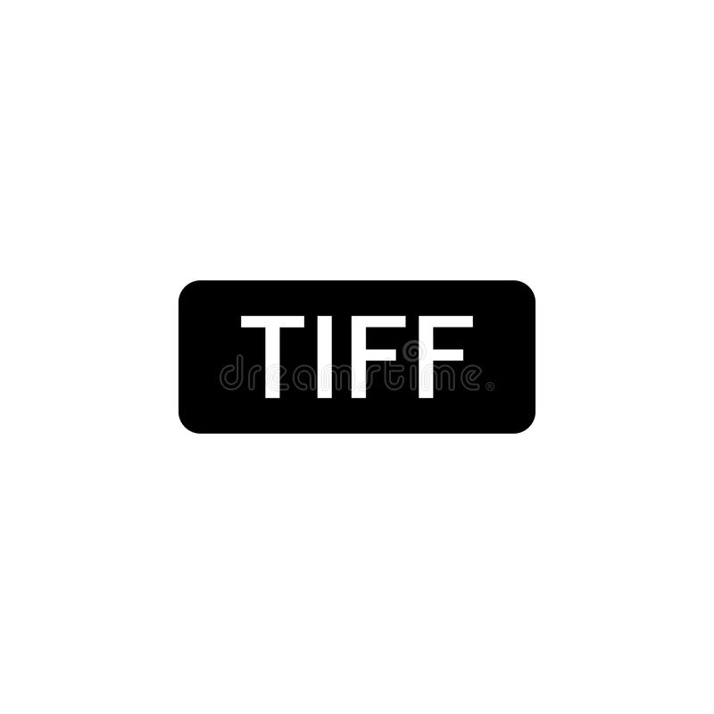 TIFF sign icon. Element of web icon for mobile concept and web apps. Isolated TIFF sign icon can be used for web and mobile vector illustration