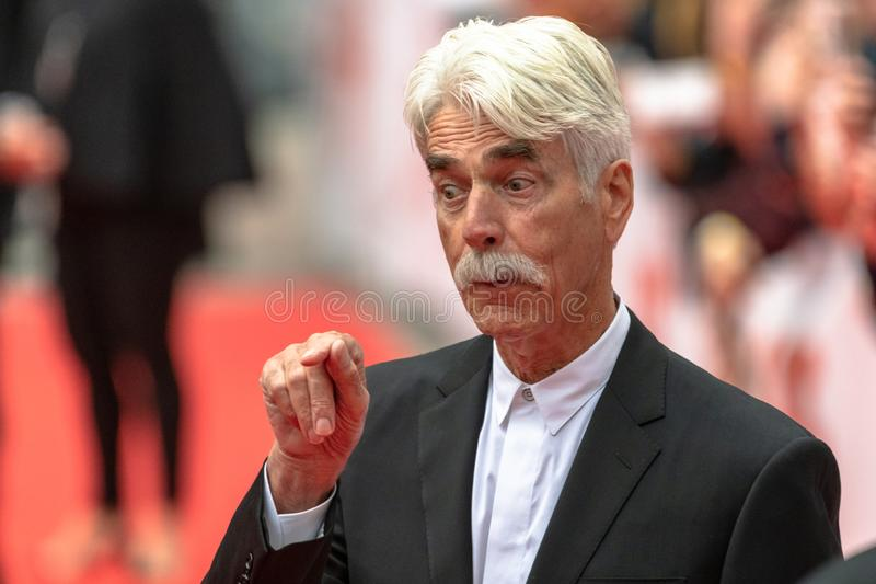 TIFF 2018: Toronto International Film Festival. Actor Sam Elliott. TIFF 2018: The Toronto International Film Festival is one of the most important events of its royalty free stock images