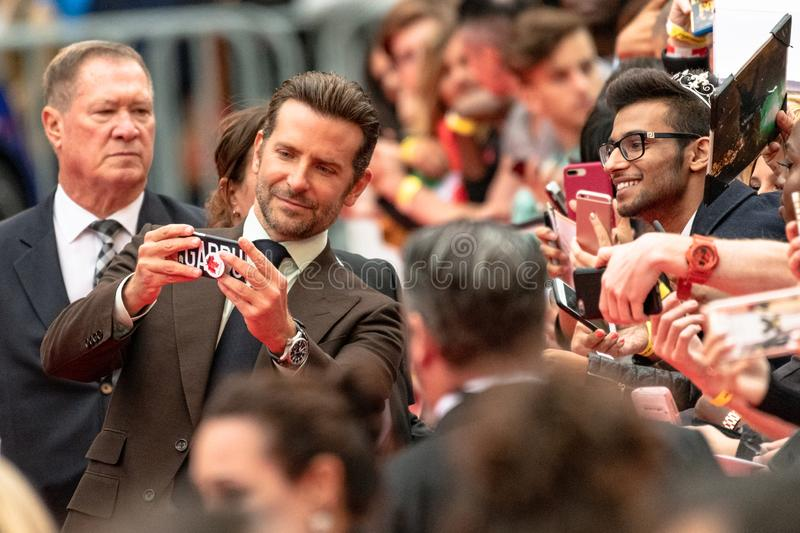 TIFF 2018, Toronto International Film Festival. Bradley Cooper. The Toronto International Film Festival is one of the most important in the world stock image