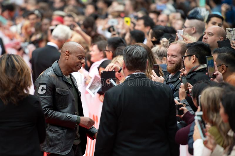 TIFF 2018: Toronto International Film Festival. Dave Chappelle, stand up comedian. TIFF 2018: Toronto International Film Festival is one of the most important royalty free stock photo