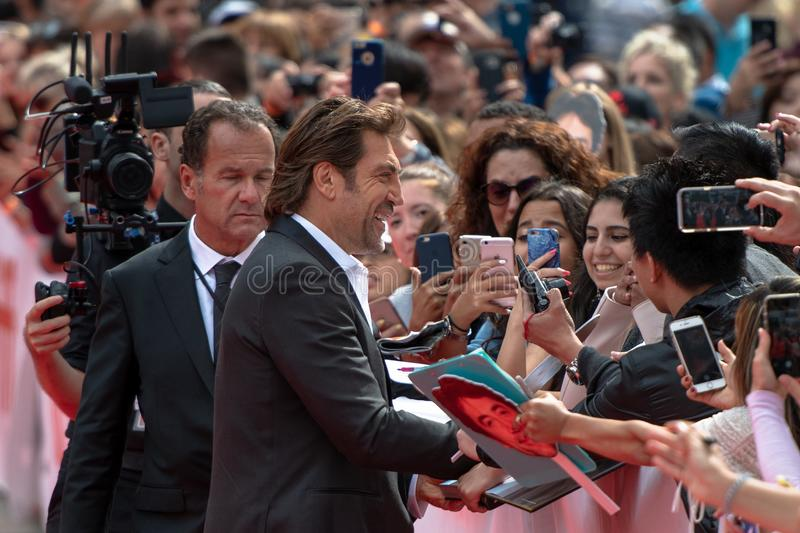 TIFF 2018: Toronto International Film Festival. Javier Bardem, actor. TIFF 2018: Toronto International Film Festival is one of the most important events of the stock images