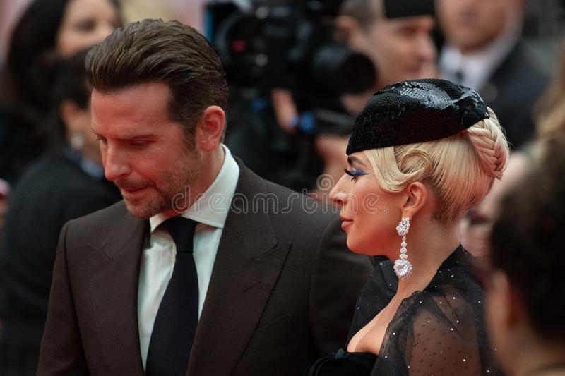 TIFF 2018, Toronto International Film Festival. Lady Gaga. The Toronto International Film Festival is one of the most important in the world. Bradley Cooper royalty free stock photography