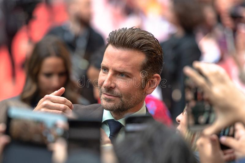 TIFF 2018: Toronto International Film Festival. Is one of the most important events of the film industry in the world Bradley Cooper, actor and director in the stock image