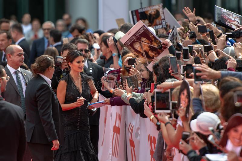 TIFF 2018, Toronto International Film Festival. Penelope Cruz, actress. The Toronto International Film Festival is one of the most important in the world royalty free stock image