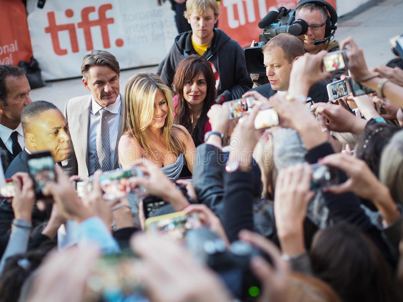 2013 tiff. TORONTO - SEPTEMBER 14: Jennifer Aniston arrives at the Toronto International Film Festival for her new film Life of Crime on September 14, 2013 stock photo