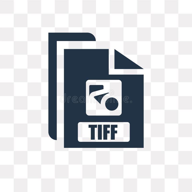 Tiff wektorowa ikona odizolowywająca na przejrzystym tle, Tiff trans ilustracji