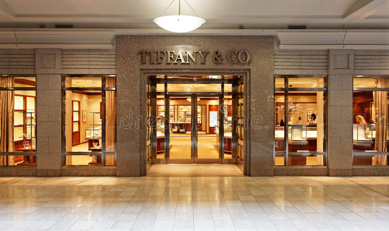 tiffany美国co公司珠宝的银器 : 图库摄影
