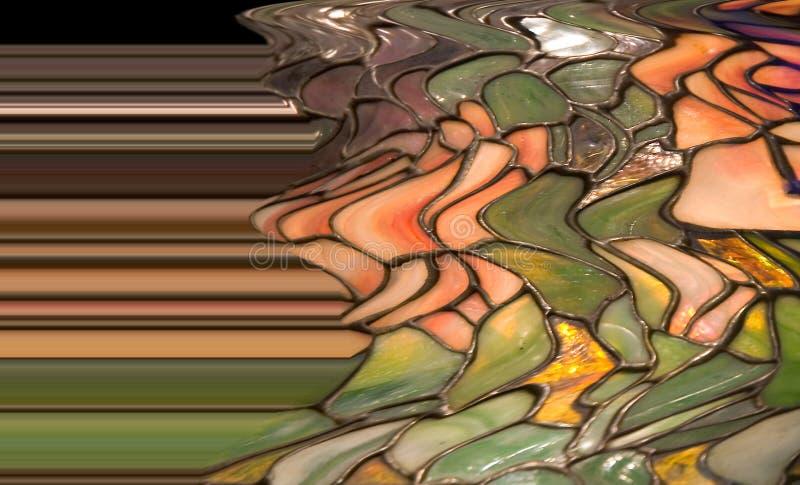 tiffany abstrakt stil för lampkupa royaltyfri illustrationer