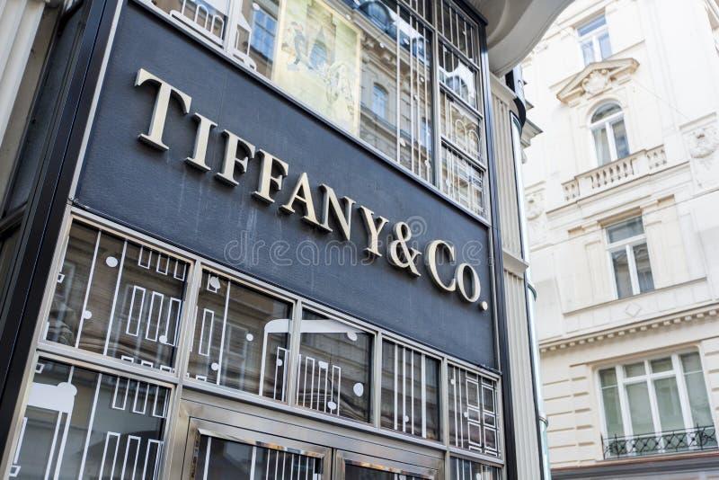 Tiffany Co boutique à Vienne photographie stock libre de droits