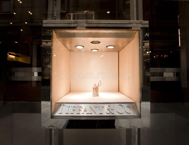 Tiffany & Co, Milan royalty free stock photos