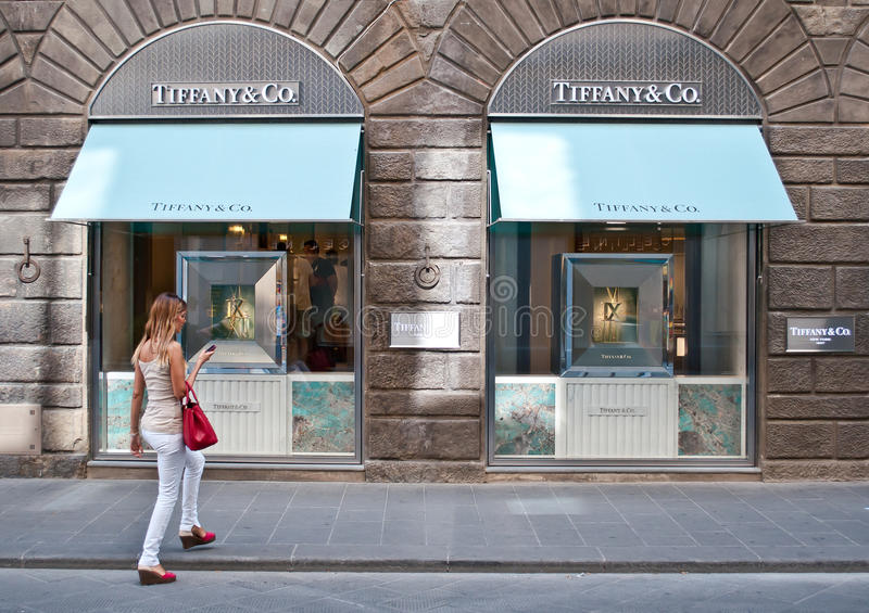 Tiffany & Co opslag stock afbeelding