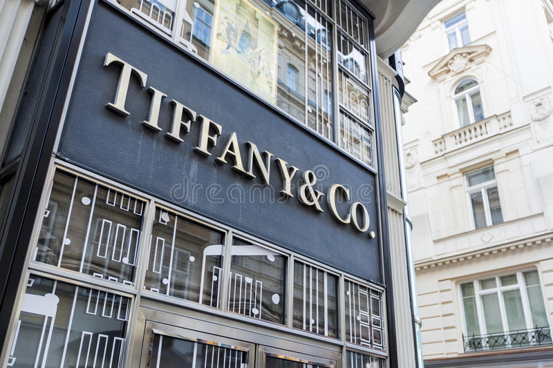 Tiffany co. shop in Vienna royalty free stock photography