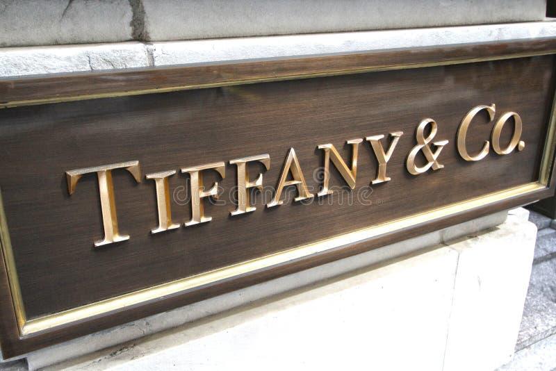 Tiffany & Co.-smyckenlager royaltyfri bild