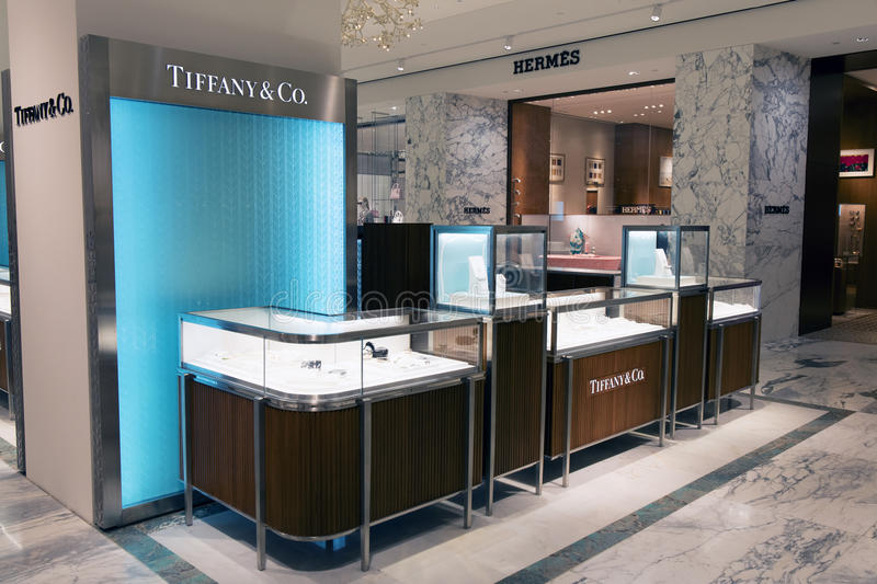Tiffany & co store stock images
