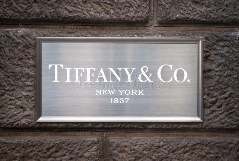 Tiffany & Co teken royalty-vrije stock fotografie