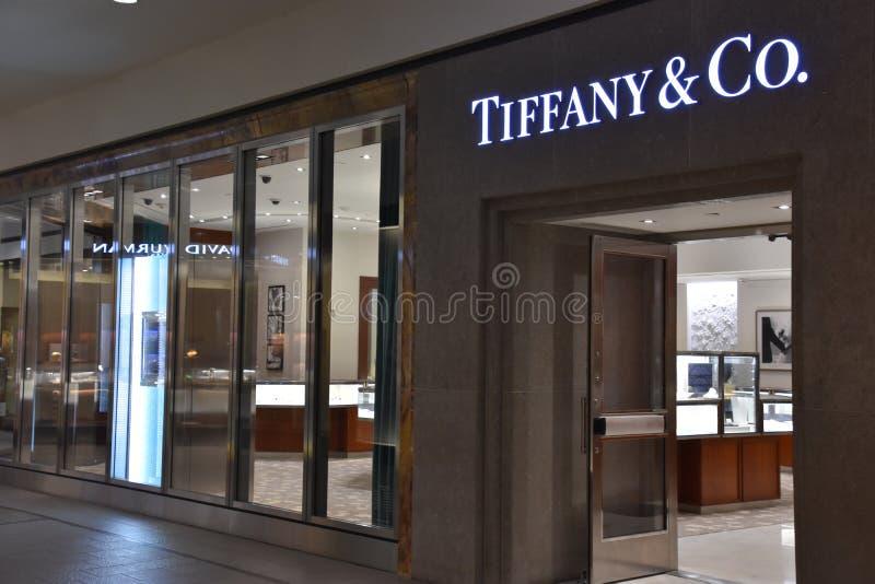 Tiffany & il Co deposito alla galleria in Edina, Minnesota fotografia stock