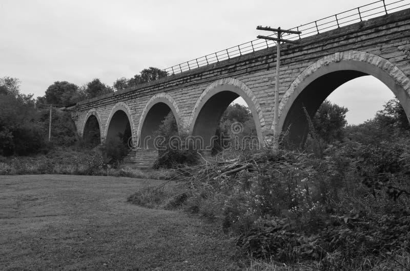 Tiffany linii kolejowej most w Wisconsin zdjęcia stock