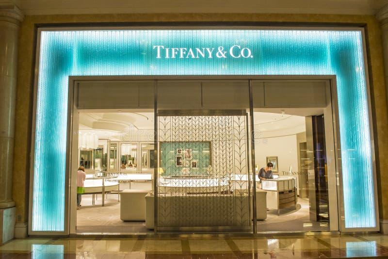 Tiffany sklep zdjęcia royalty free