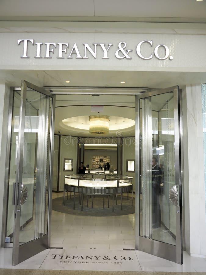 Tiffany sklep obrazy stock