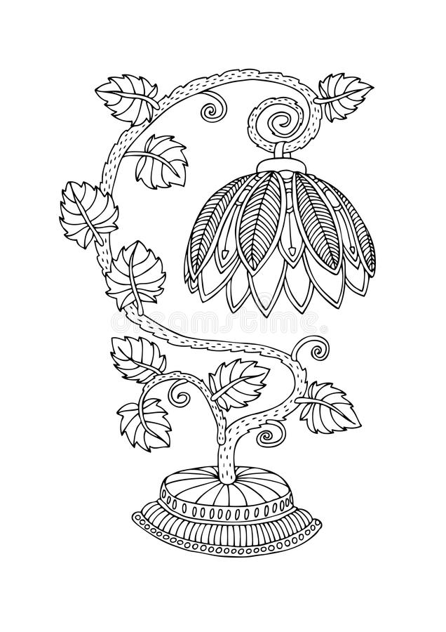 - Tiffany Style Lamp. Illustration For Adult Coloring Book. Stock Vector -  Illustration Of Floral, Ornamental: 105015967