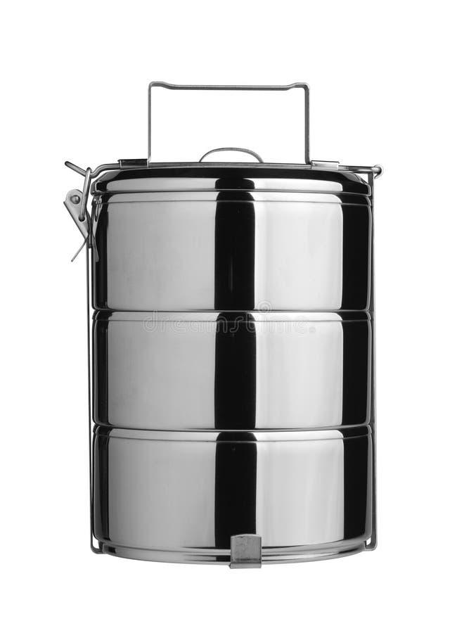 tiffin för behållarematmetall arkivfoton