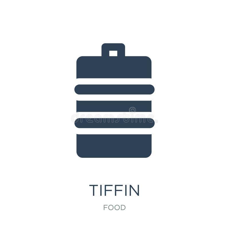 tiffin Ikone in der modischen Entwurfsart tiffin Ikone lokalisiert auf weißem Hintergrund einfaches und modernes flaches Symbol d vektor abbildung
