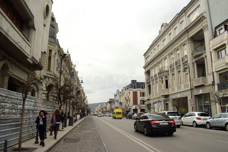 Tiflis, Georgia, Straßenansicht 2018 NEU lizenzfreies stockfoto