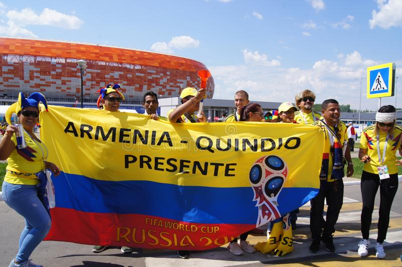 tifosi della Colombia immagini stock libere da diritti