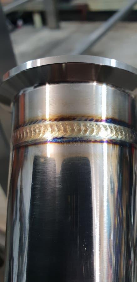 Tig焊接,不锈钢,氩,管 图库摄影
