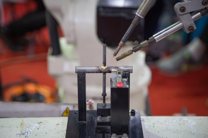 TIG Welding robótico imágenes de archivo libres de regalías