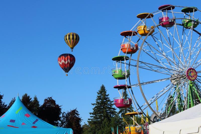 Tigard, carnaval do festival do balão de Oregon foto de stock