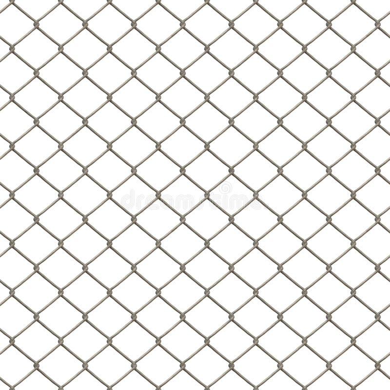 tige à chaînes de frontière de sécurité illustration de vecteur