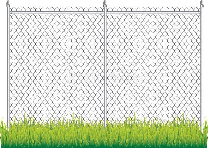 tige à chaînes de frontière de sécurité illustration stock