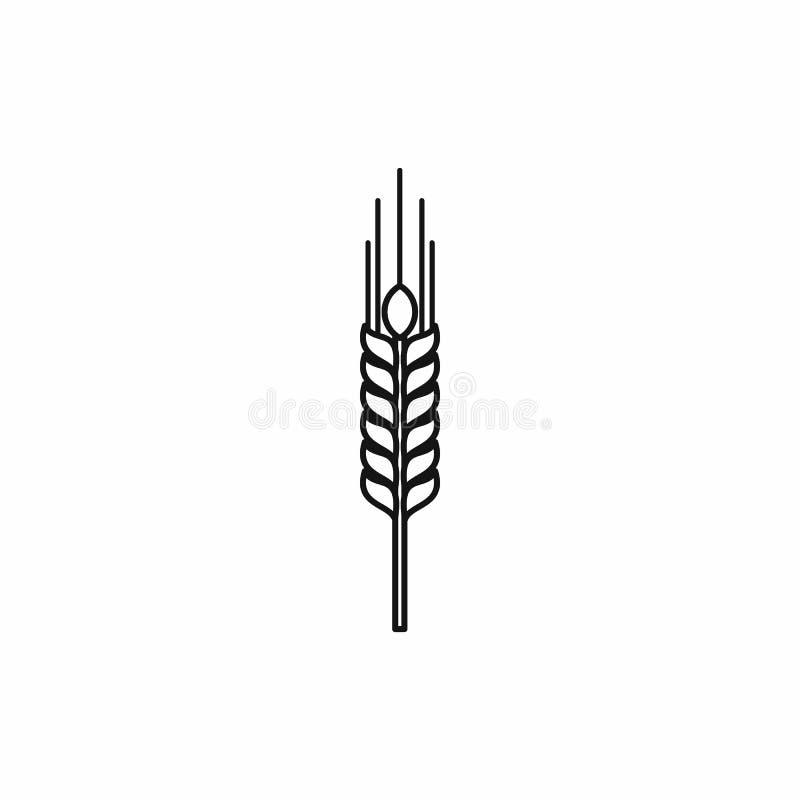 Tige d'icône mûre d'orge, style d'ensemble illustration libre de droits