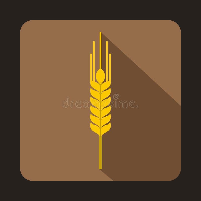 Tige d'icône mûre d'orge, style plat illustration stock