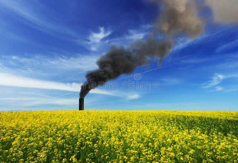 Download Tige de fumage de cheminée photo stock. Image du noir - 8673348