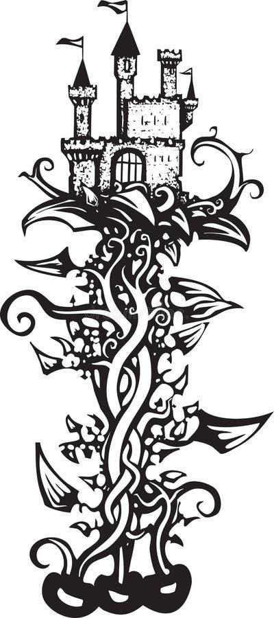 Tige de haricot magique illustration libre de droits
