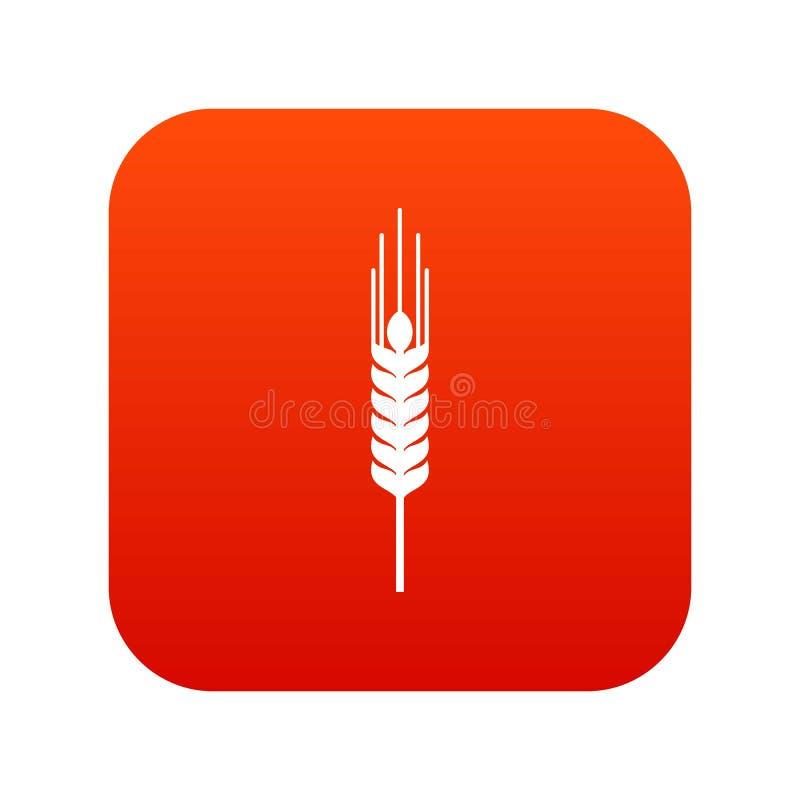 Tige du rouge numérique d'icône mûre d'orge illustration stock