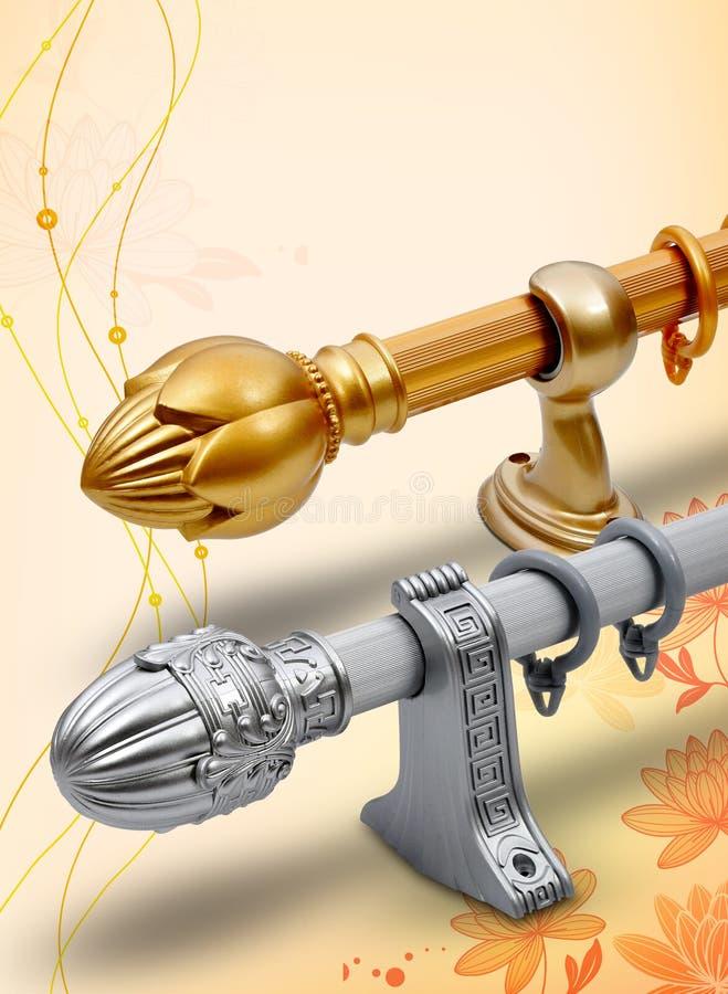 Tige et accessoires de rideau illustration libre de droits