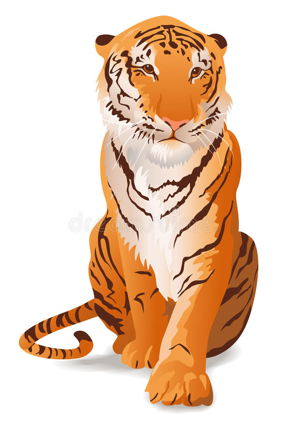 tiger royaltyfri illustrationer