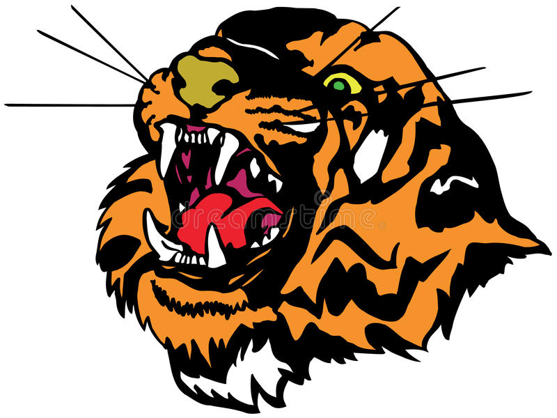 Download Tiger stock illustration. Image of tiger, mouth, nature - 12419960
