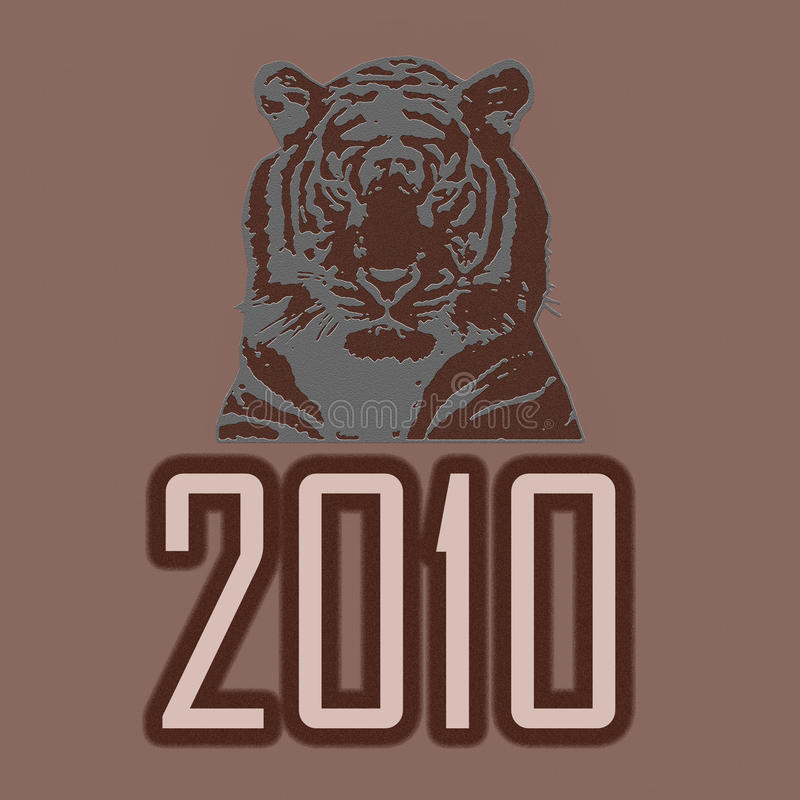 Tiger 2010 Royalty Free Stock Photography