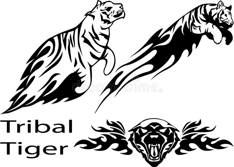 tiger stock illustrationer