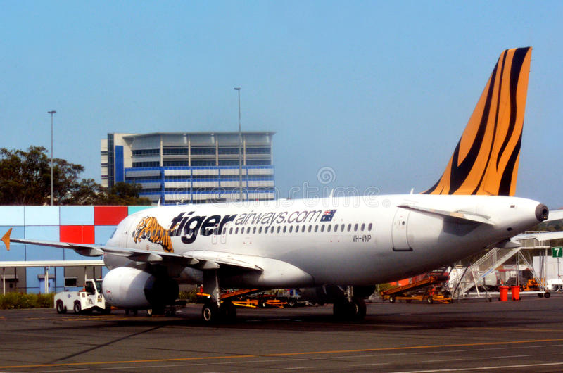 Tiger Airways Singapore Pte Ltd arkivbild