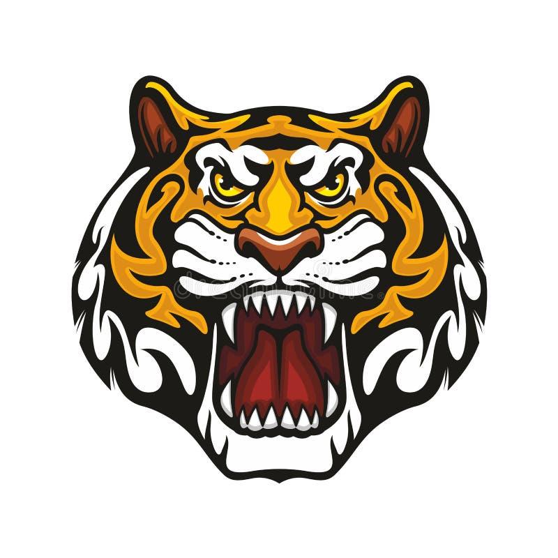 Tiger animal muzzle vector sport team mascot icon stock illustration