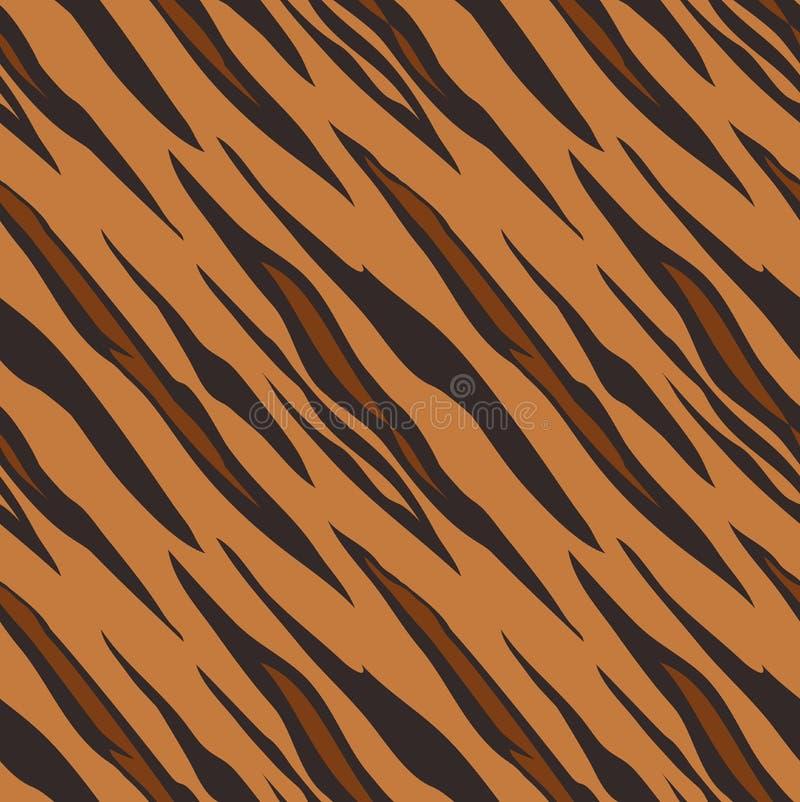 Tiger Animal Print Pattern Seamless-Fliese stock abbildung
