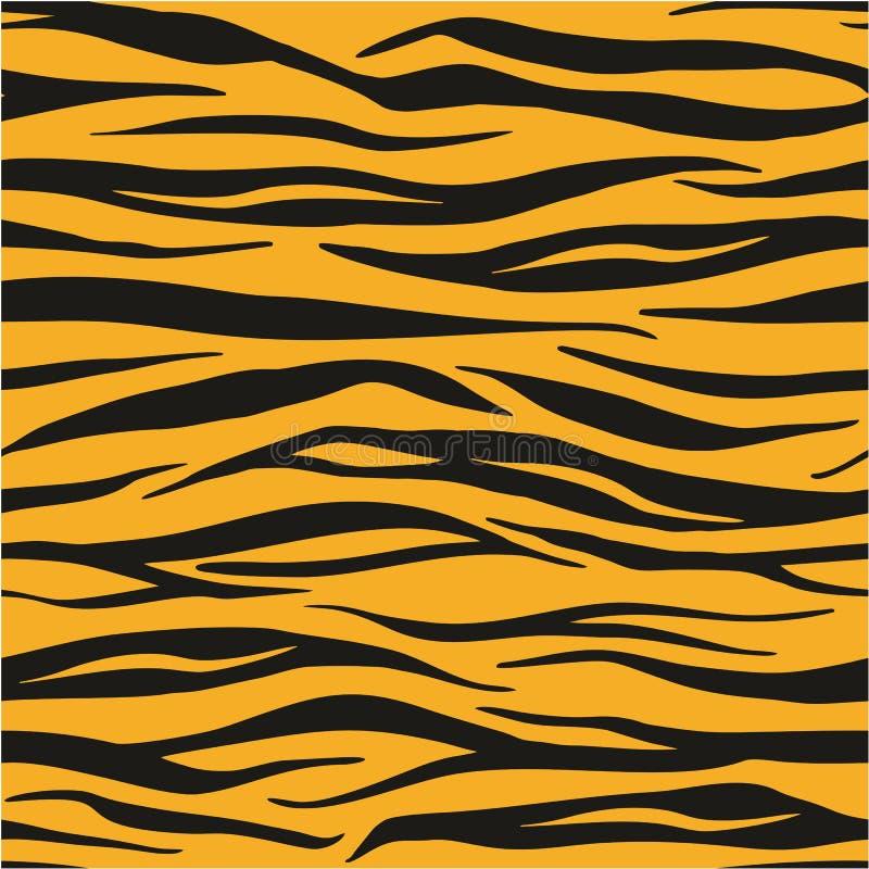 Tiger Animal Print Seamless Vector-Muster oder nahtloses Vektor-Hintergrund-Konzept lizenzfreie abbildung