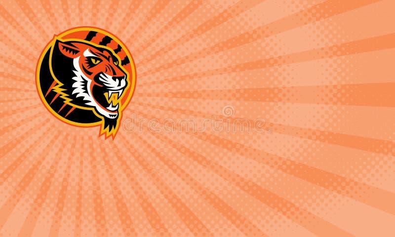 Tiger Athletics Business card vector illustration
