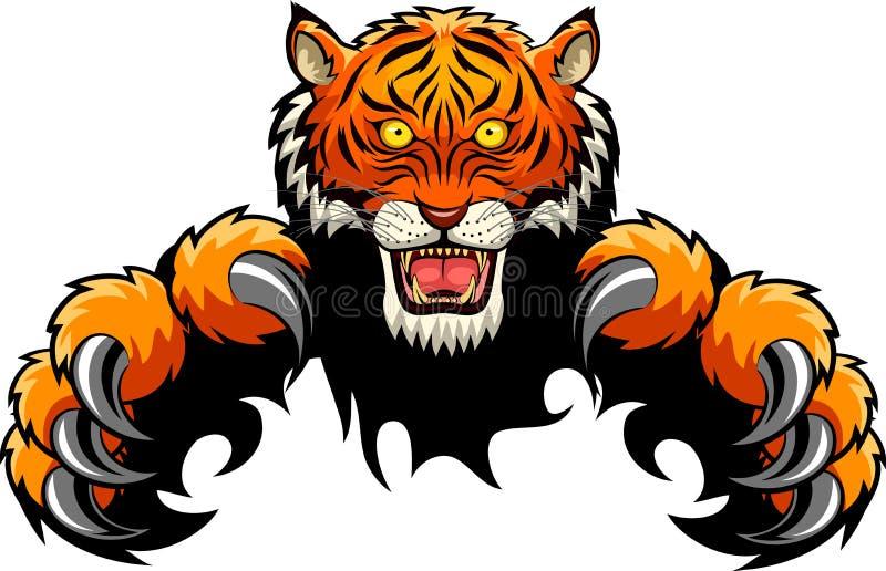 Tiger Attack Concept vektor illustrationer