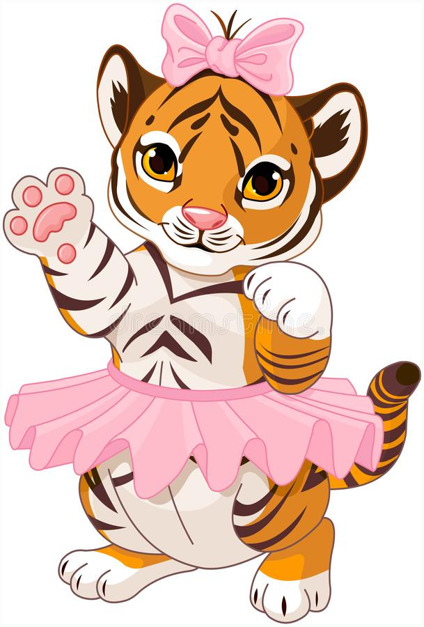 Tiger Ballerina vector illustratie